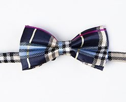 PAWBERRY BLUE BOW TIE